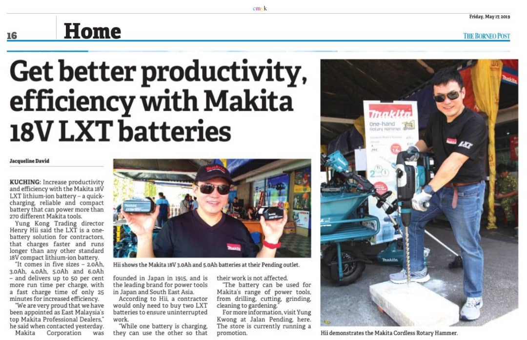 Get better productivity, efficiency with Makita 18V LXT Batteries