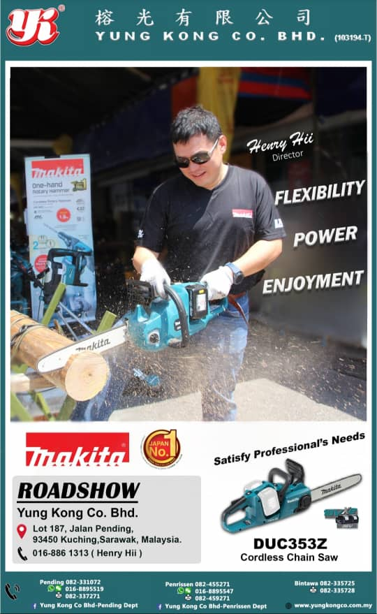 i simply love Makita, it gives me flexibility, Power, Enjoyment.